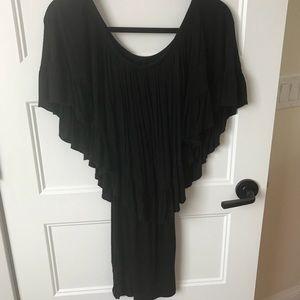 Elan Black Off-The-Shoulder Dress